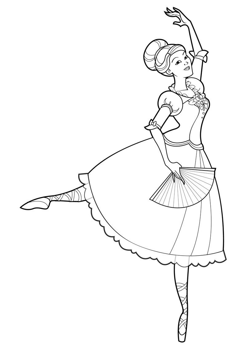 barbie and the 12 dancing princesses coloring page 03 | Coloring ...