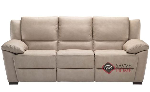 Genoa Reclining Leather 3 Seat Sofa By