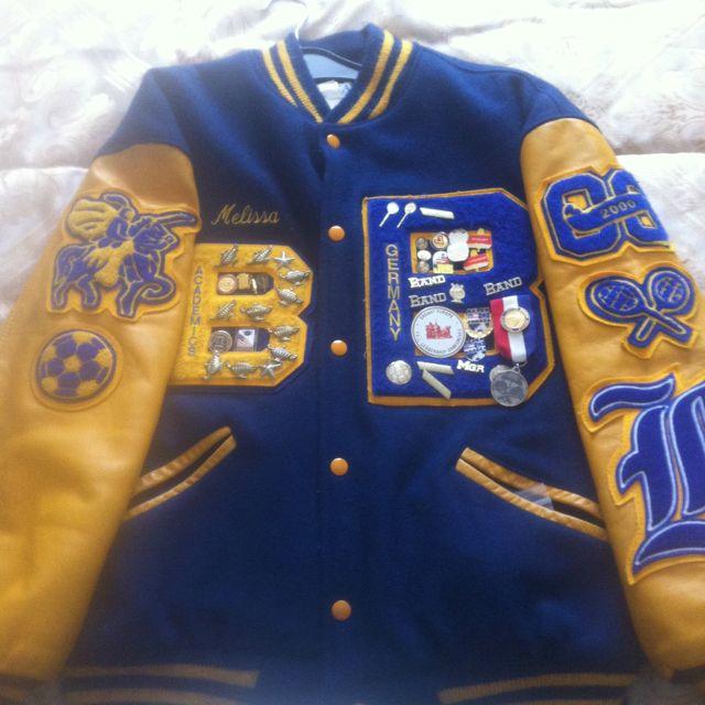 My high school letterman jacket. Hahaha  fb27916da234