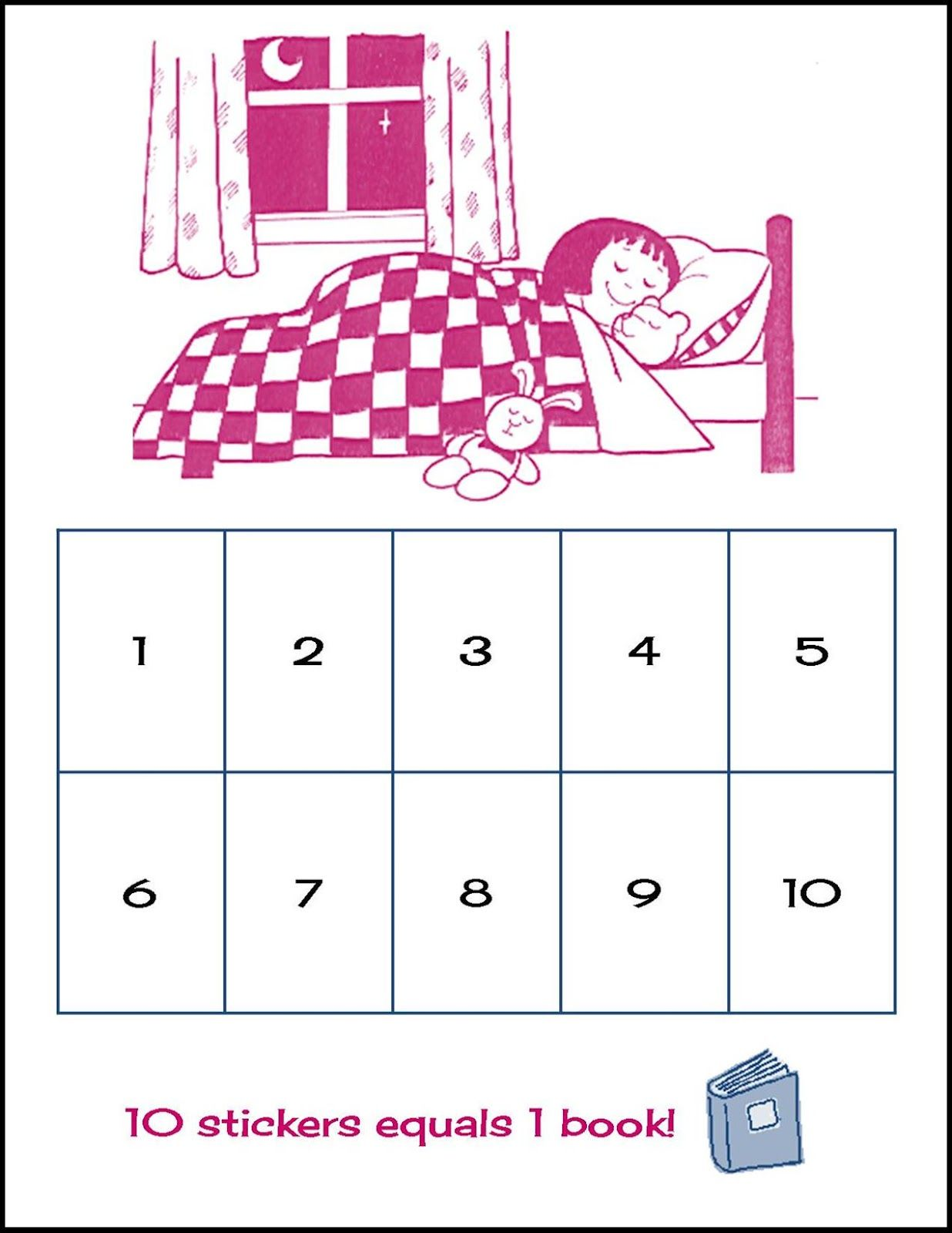 Random bits sleep chart make it for kids