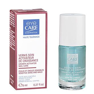 Eye Care Growth activator nail care 8ml. Thanks to its innovative mix of active ingredients (T.D.C, Silicium and Calcium) after 1 month of use the growth activator nail care can improve natural nail growth.