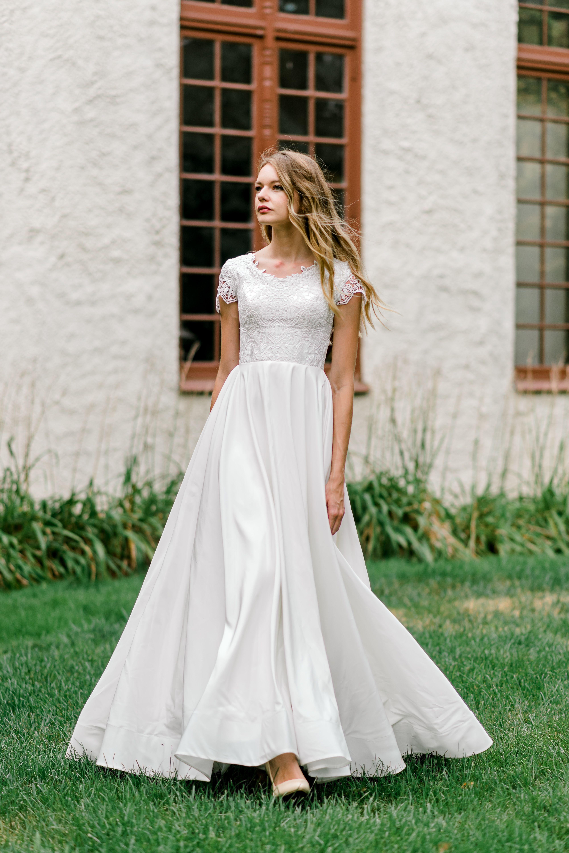 Mariah Gown Wedding Dresses Simple Modest Wedding Dresses Modest Wedding Dresses With Sleeves