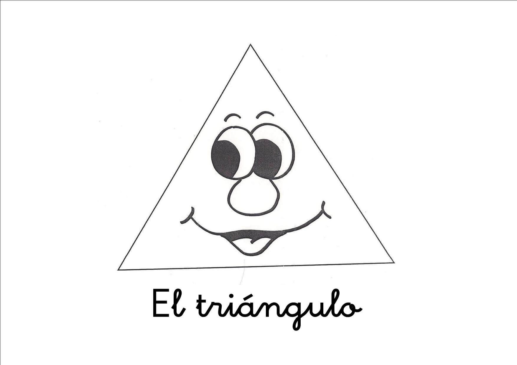 Resultado De Imagen De Fichas De Triangulo Figuras Geometricas Dibujos Para Ninos Geometrico