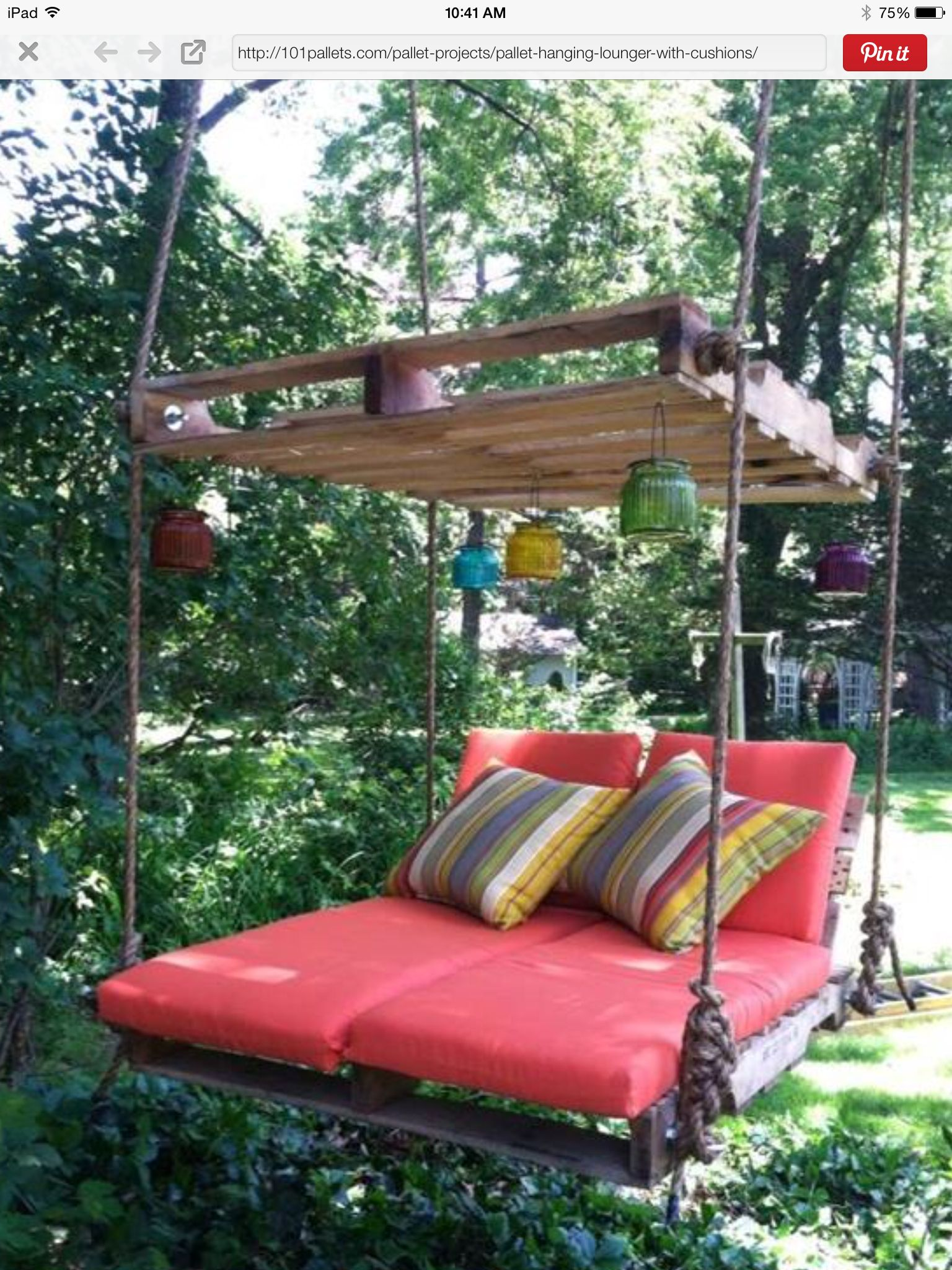 Outdoor Pallet Bed Tree Swing Area Pinterest Outdoor pallet