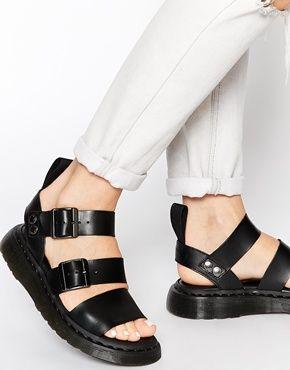 Gryphon Strap Sandal - Black Dr. Martens q73SIbST6