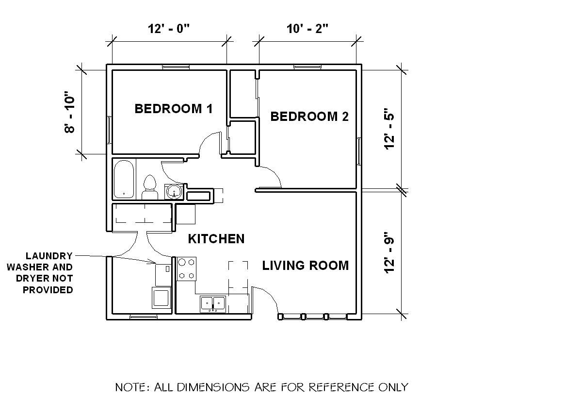 Two Bedroom House Plans Pdf
