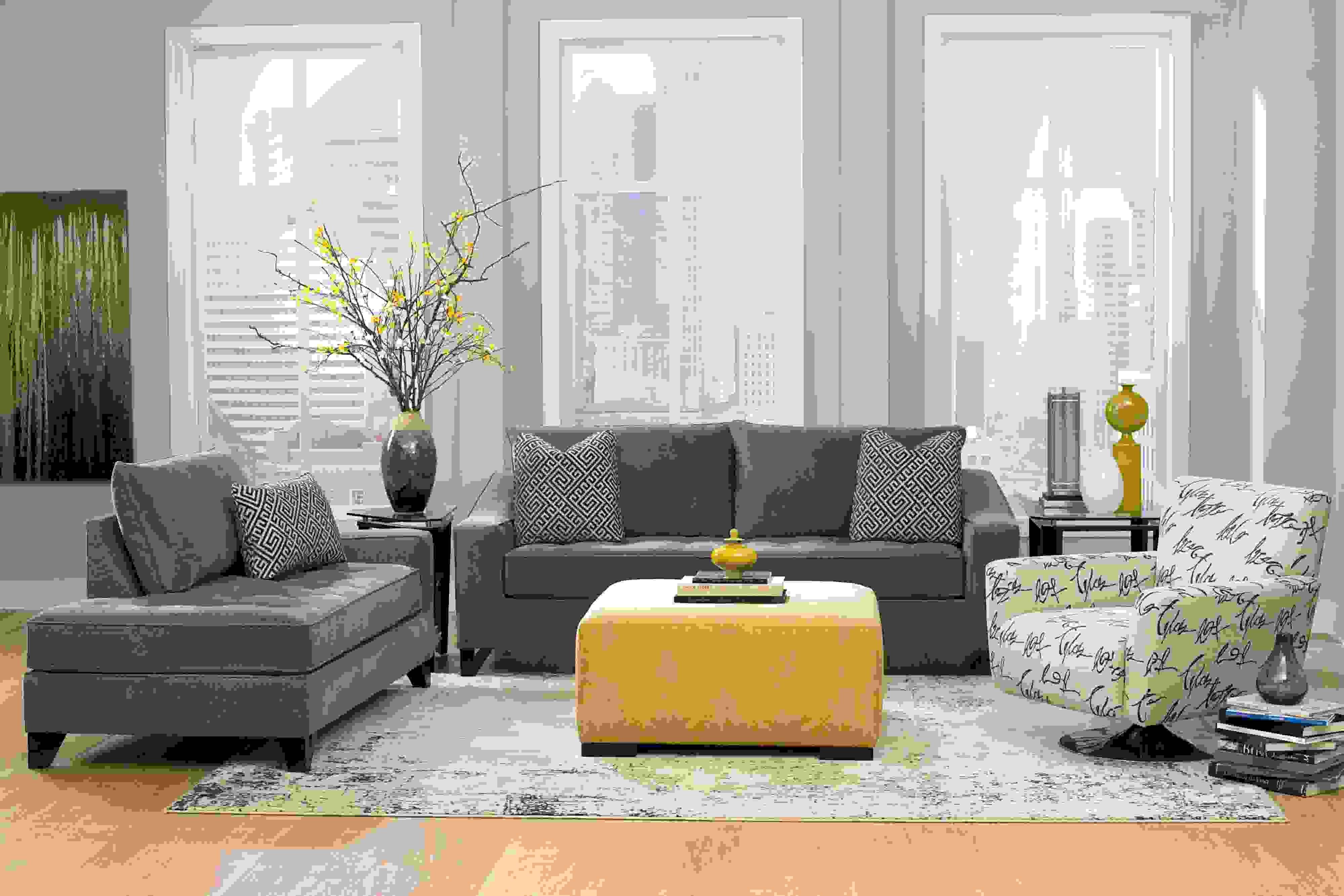 Interieurdecoratie u2013 de grijze en gele combinatie de perfecte