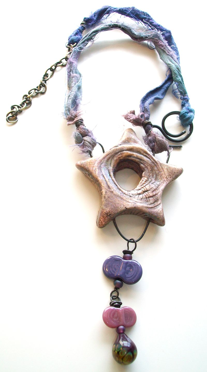 """Finished """"Shine On"""" Collab necklace from Genea Beads(www.geneabeads.com), and S L Artisan Accents(www.stacilouiseoriginals.com). All of the kits are different!"""
