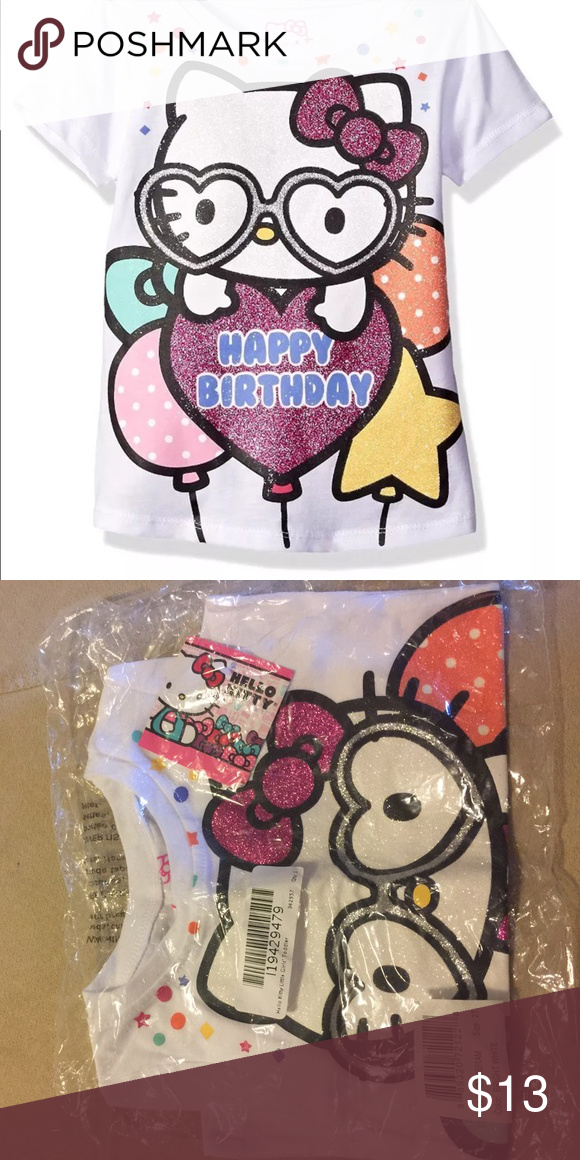 Happy Birthday Hello Kitty Shirt Very Cute For Your Princess Shirts Tops Tees