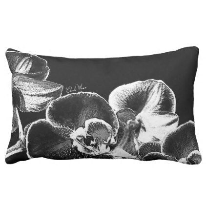 Orchids Lumbar Pillow - purple floral style gifts flower flowers diy customize unique
