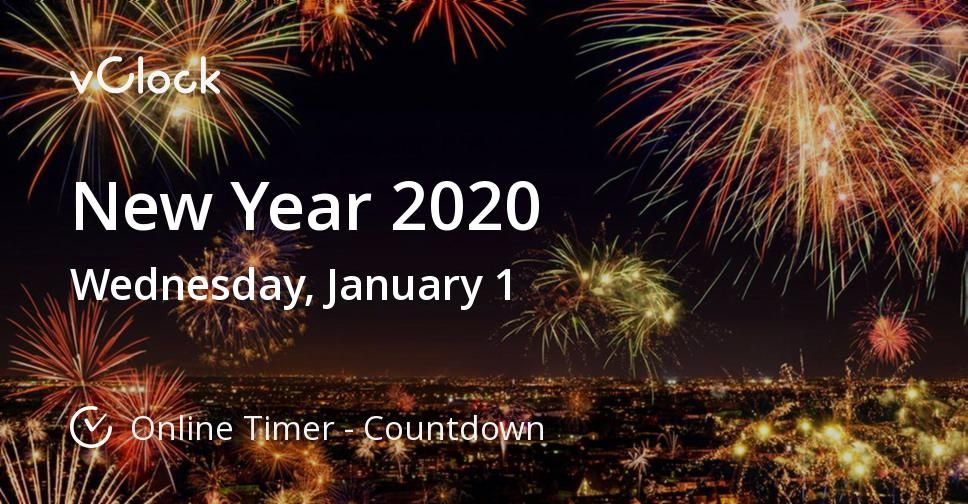 New Year 2020. Estimated time left 5 days till January 1