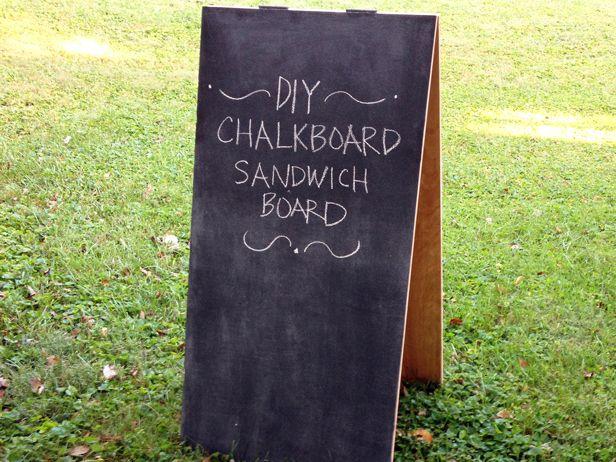 how to make a chalkboard sandwich board. Black Bedroom Furniture Sets. Home Design Ideas