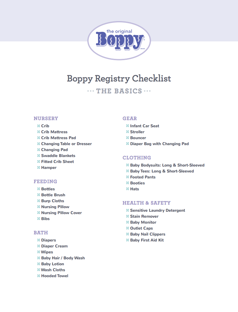 Baby Must Haves Registry Checklist for first time moms. | Baby ...