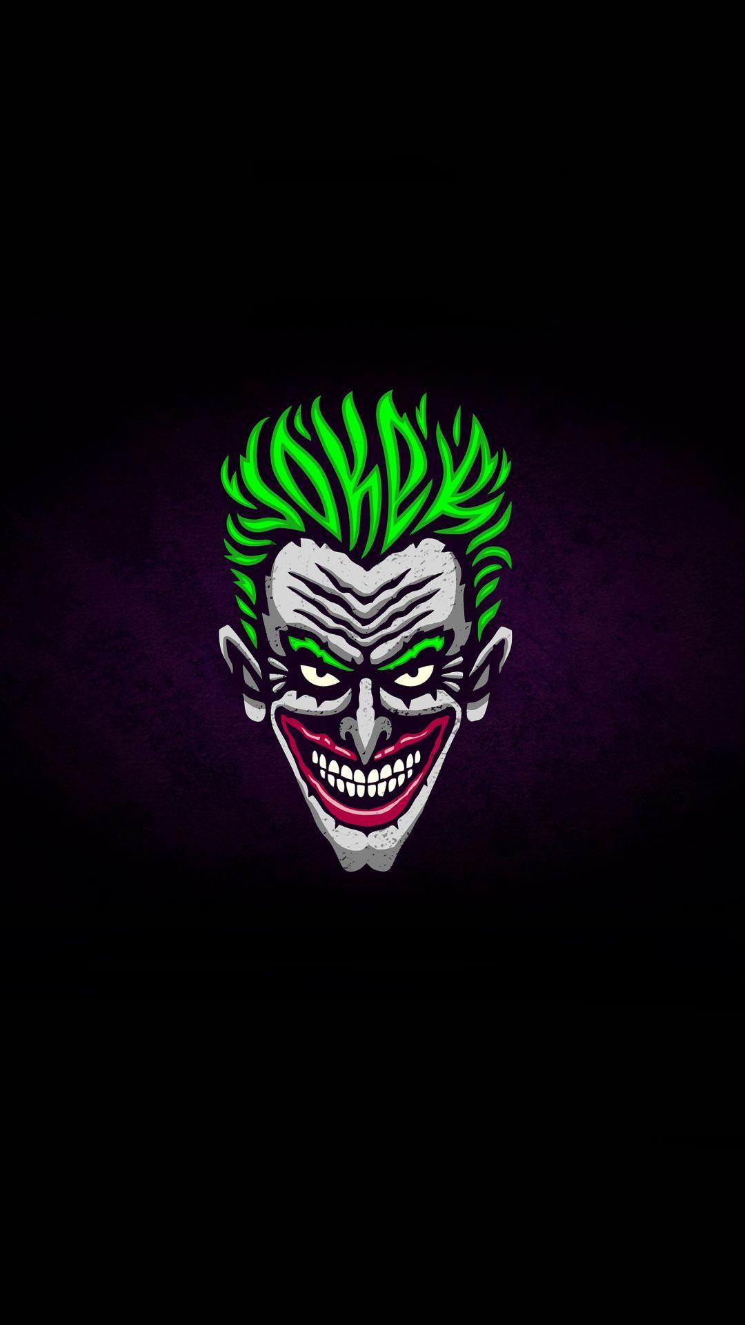 Downaload Joker S Face Villain Minimal Wallpaper For Screen 1080x1920 Samsung Galaxy S4 S5 Note Sony Xperi Joker Face Joker Hd Wallpaper Joker Wallpapers