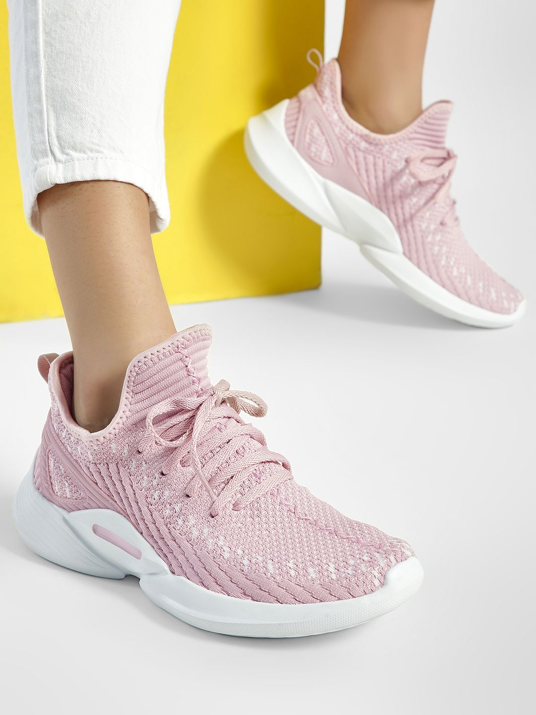 Buy 361 Degree Pink Two-Tone Knitted