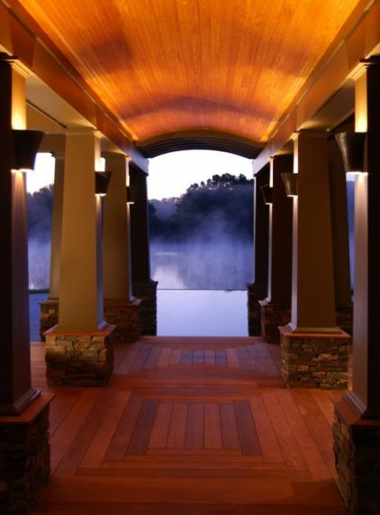 ceiling up lighting. Uplighting, Tongue And Groove Ceiling, Tapered Columns With Stone. Ceiling Up Lighting L