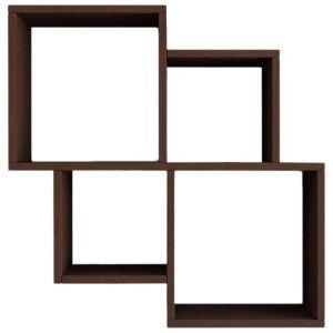 Etagère Oyo marron foncé 100 x 72 x 22 cm