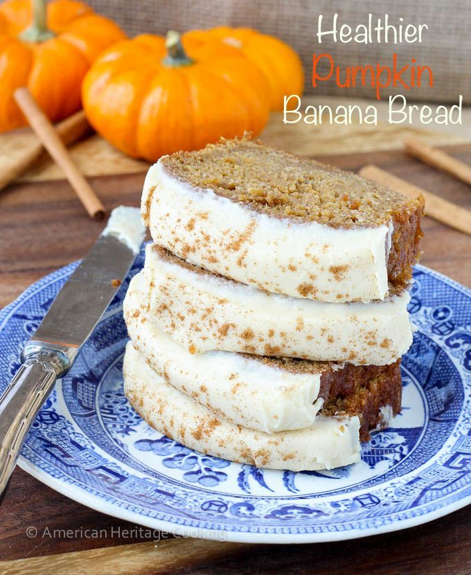 This Healthier Pumpkin Banana Bread is generously spiced and is made using apple This Healthier Pumpkin Banana Bread is generously spiced and is made using apple...
