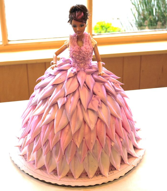 Awesome Barbie Cake - Sorry no recipe, just the picture of the cake. 4/14/13