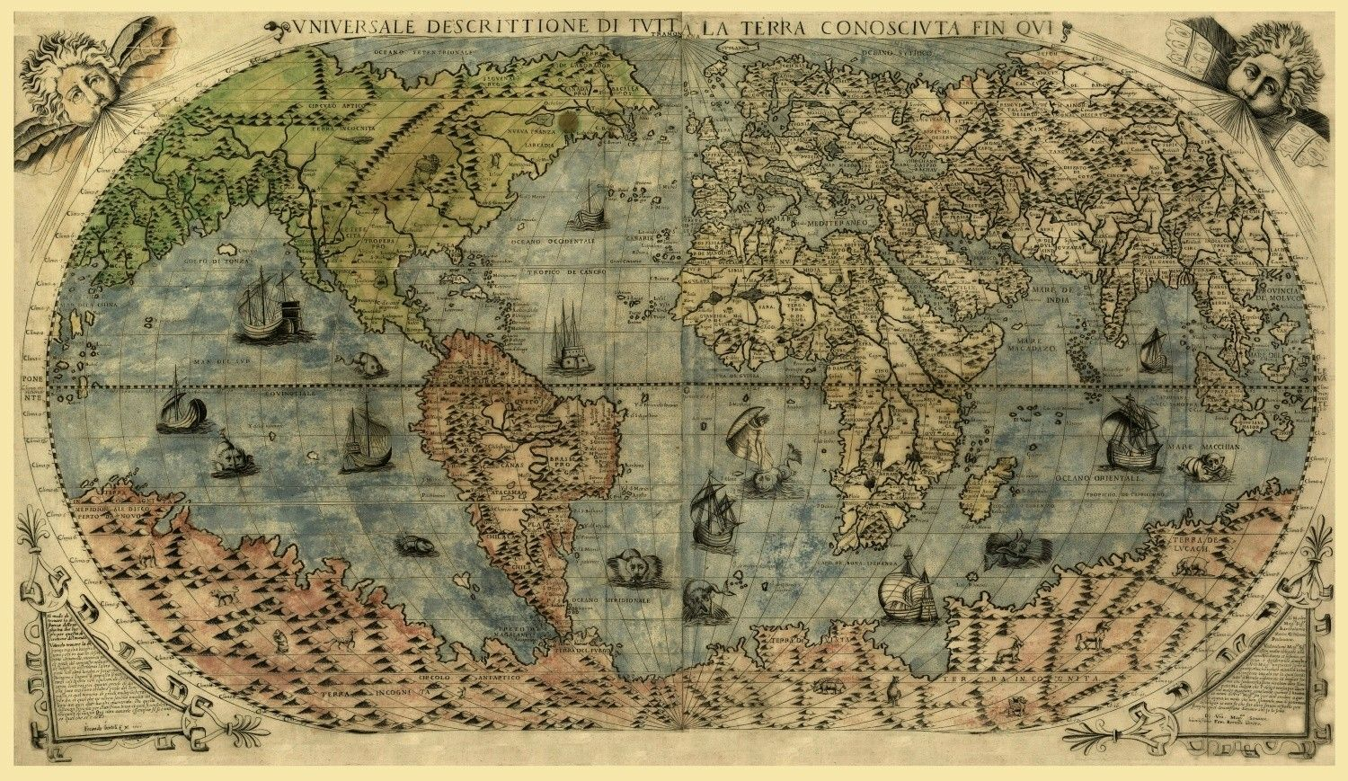 1500's world map | Old maps | Pinterest | Old maps, Map and Old