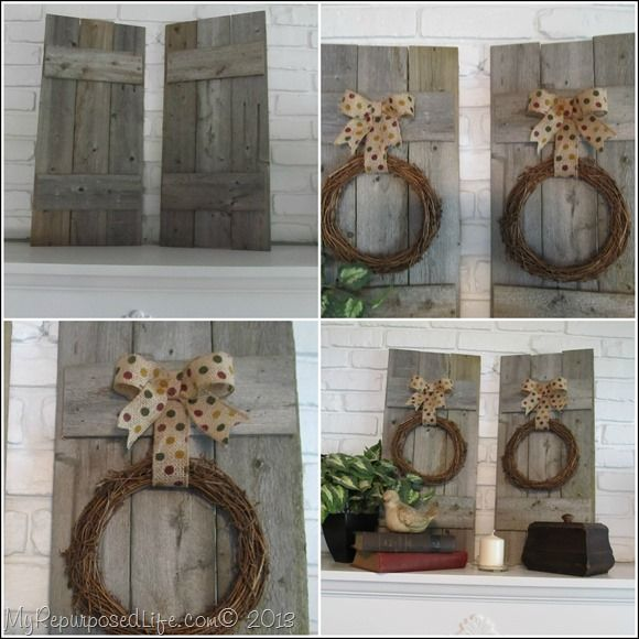 Rustic Pine Toung And Groove Interior Design: Rustic Fence As Mantel Decor