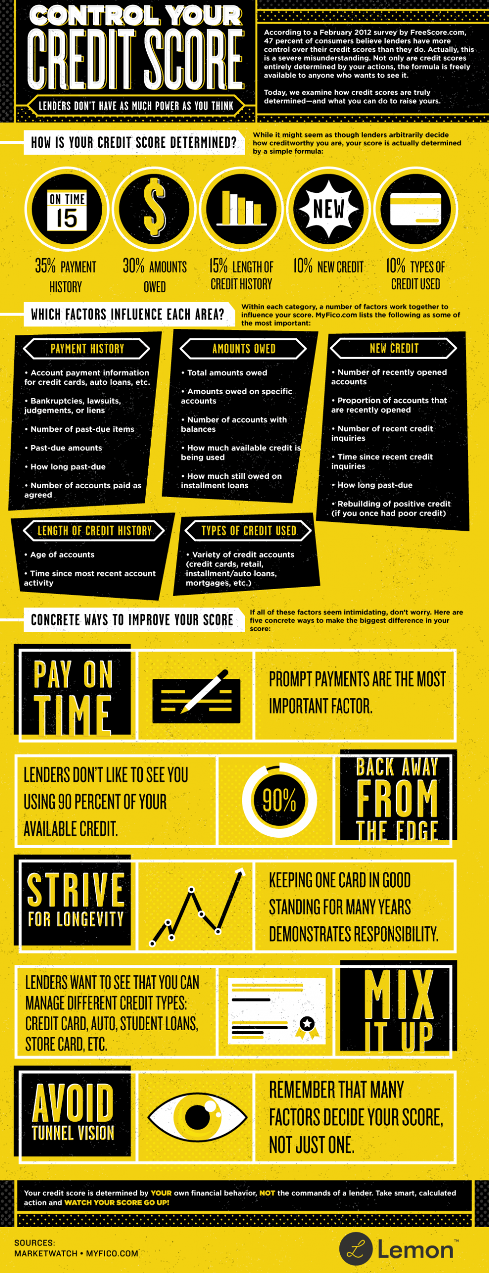 How To Control Your Credit Score Infographic