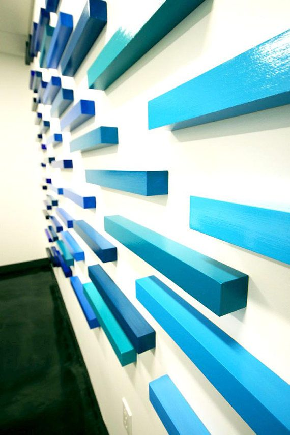 Ombre Wall Sculpture | Commercial Art Installation | Wood Wall Art ...