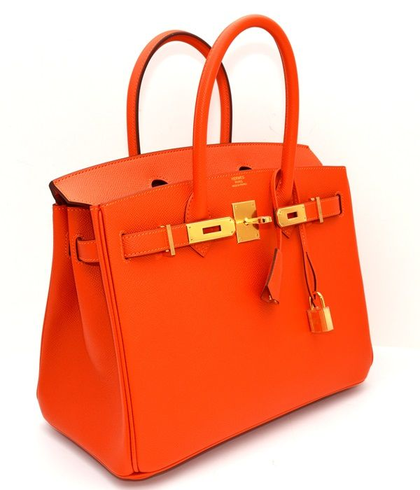 733296ca57 Hermes Birkin 30 Feu Orange Epsom Gold HW