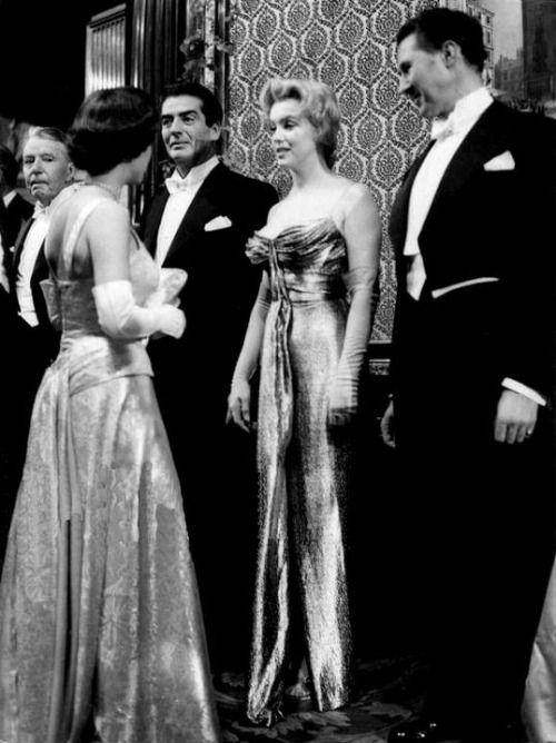 Marilyn Monroe Meeting Princess Margaret In England 1956 With