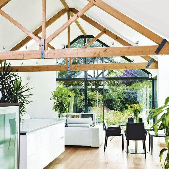 Outdoor Kitchens Uk Ideal Home Vaulted Ceiling Lighting Kitchen Inspiration Design Vaulted Ceiling Kitchen