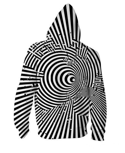 Drippy Maze Zip-Up Hoodie | Trippy designs, Zip up hoodies ...