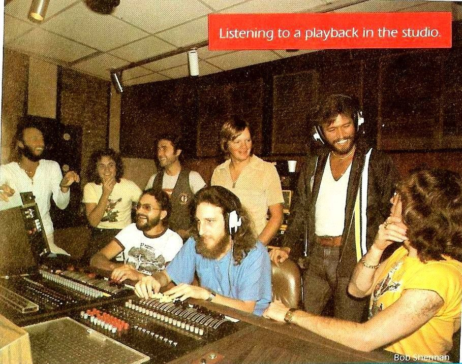 Bee Gees and the Band in the Studio -Spirits Tour Book 1979