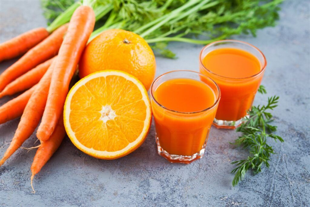 10 فوائد عصير الجزر مذهلة ت شجعك على تناوله يومي ا Orange Juice Recipes Orange Carrot Juice Juicing Recipes