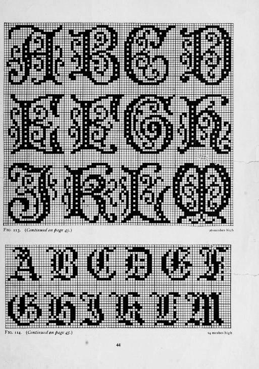 Pin de Karen Verploegh en Filet Crochet | Pinterest | Letras ...