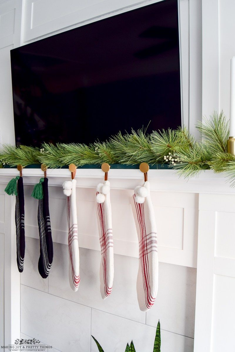 Diy Modern Christmas Stocking Holder Diy Stocking Holder Diy Christmas Decorations For Home Christmas Stocking