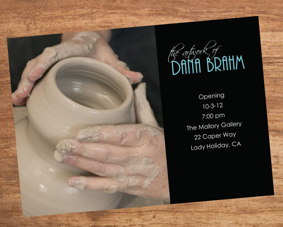 Art Show Opening Invitation By Sbvintageanddesign On
