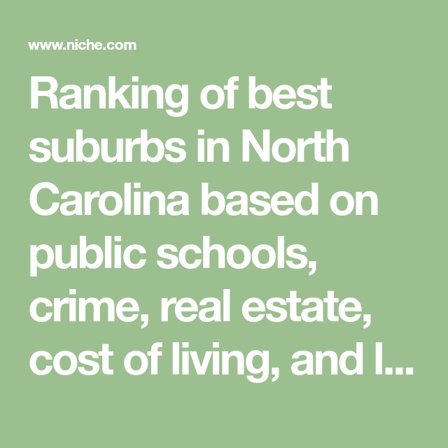 2019 Best Suburbs to Live in North Carolina Living in