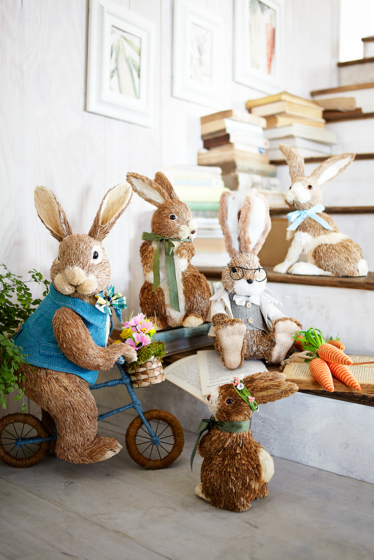 Once Upon A Time Pier 1 Had Two Easter Bunnies And It Multiplied From There Now We Have A Easter Bunny Decorations Easter Inspiration Farmhouse Easter Decor