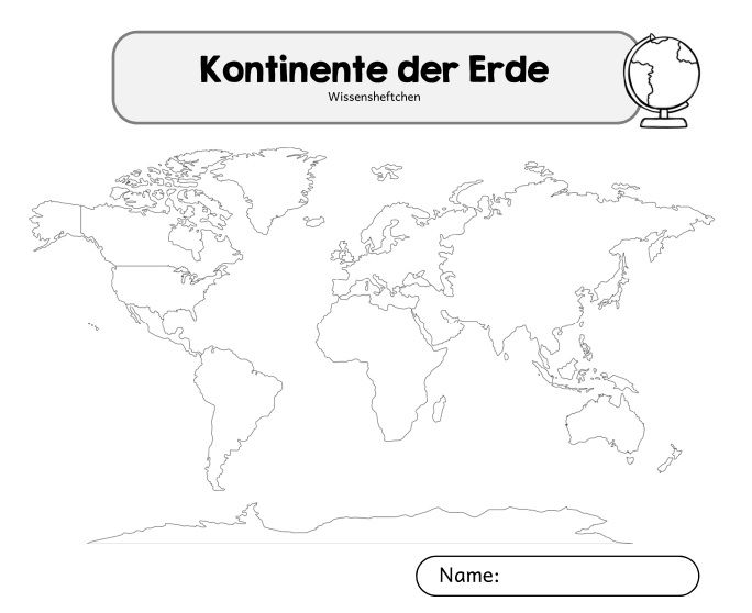 Kartei Und Arbeitsheft Zu Den Kontinenten Wie Gestern Bereits
