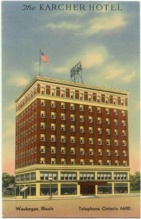 The Karcher Hotel In Waukegan Illinois Where We Received 14 Pallets Of Terra Cotta Finials This Is Building Its Glory Days