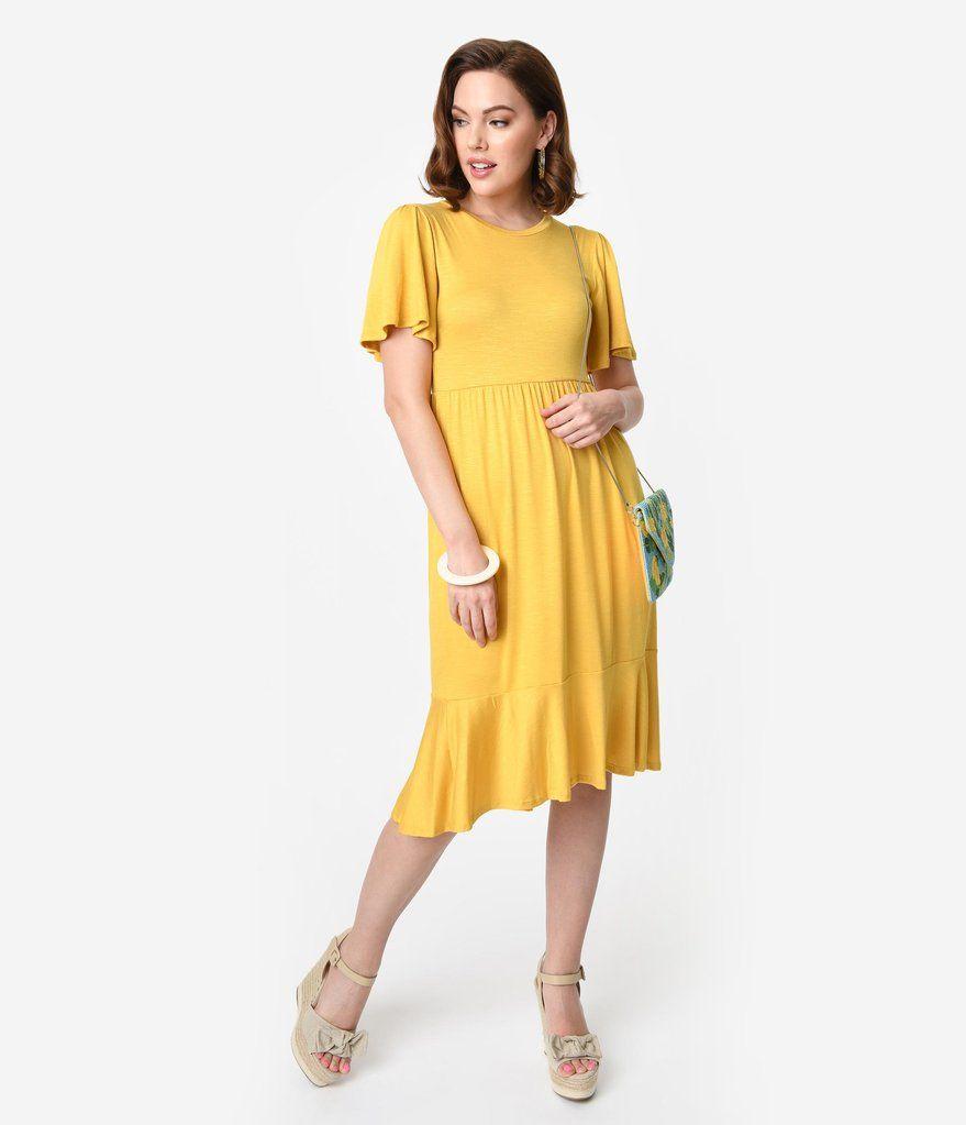 Park Art My WordPress Blog_Yellow Midi Dress With Sleeves