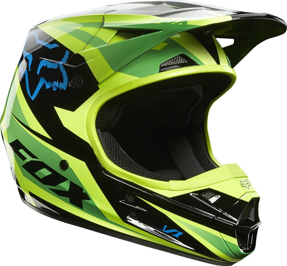new 2014 fox racing v1 race green helmet motocross sx mx. Black Bedroom Furniture Sets. Home Design Ideas