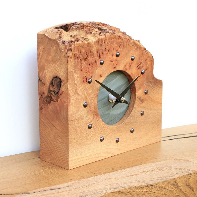 Rustic English Elm Mantel Clock With Slate Face Huis Decoraties Decoraties