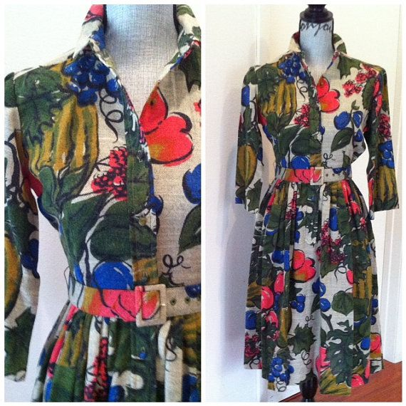Saks Fifth Avenue Timeless Vibrant Dress  60s 70s Fab  by VARVINT, $54.00