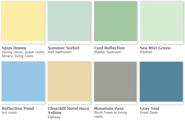 Color Theory & Other Musings Grey paint colors, Green