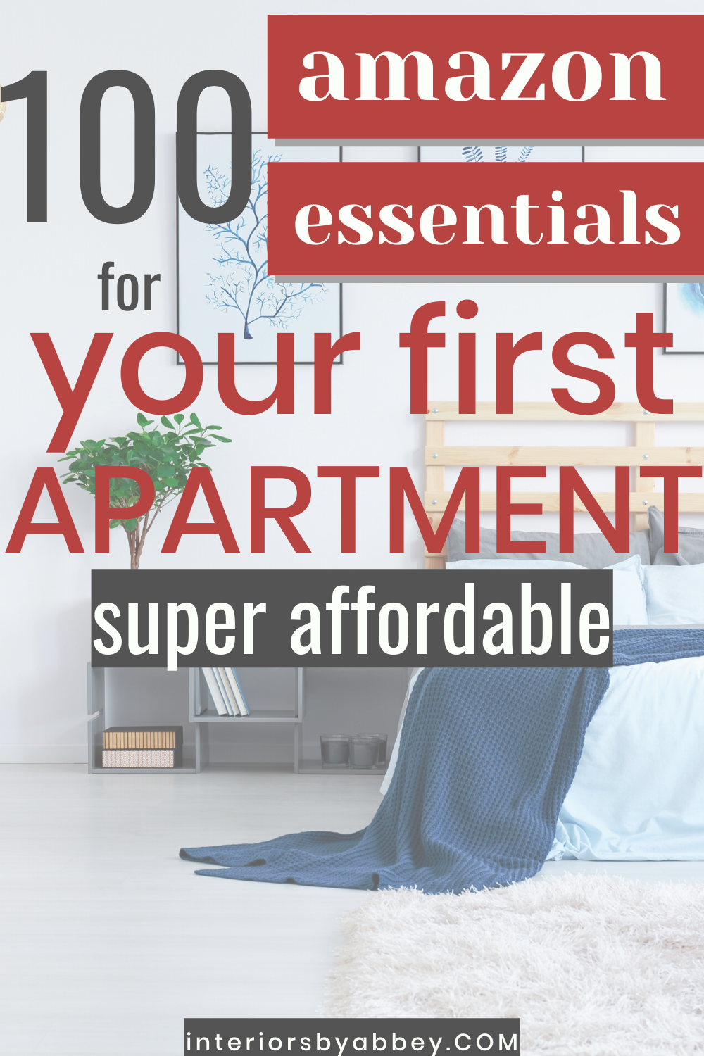 The best affordable amazon finds for your apartment! Cute decor and practical organization to get the most out of your small space. All on a small budget! #amazon #amazonessentials #amazondecor #organization #homedecor #apartment