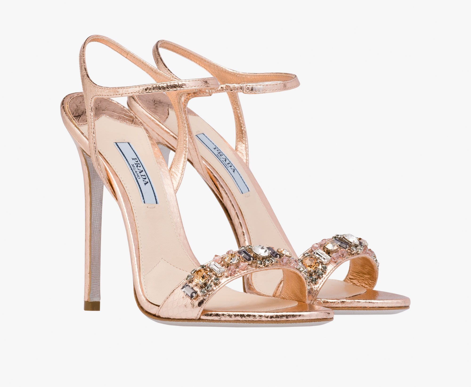 Prada Jewelled Sandals With Crystals