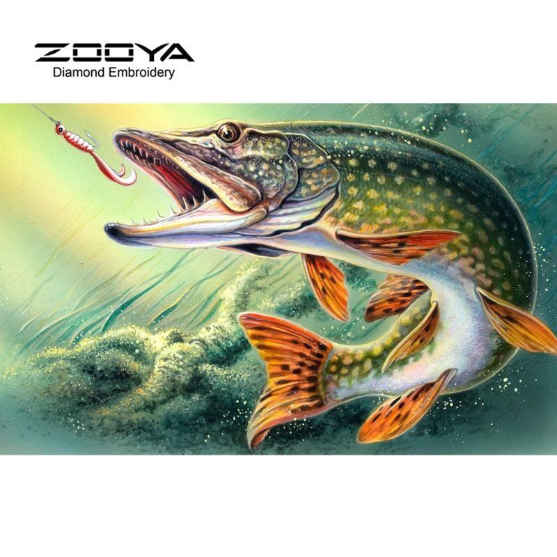 Fish Painting Image By Rick Hall On Bass Fishing Diamond Painting Art