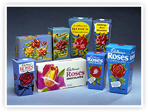 My personal favorites! 1938CADBURY ROSES ARE LAUNCHED Cadbury Roses