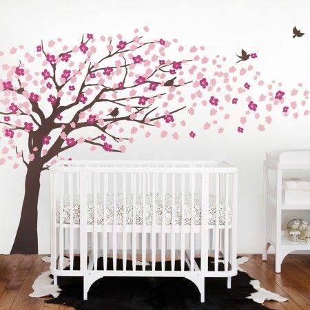 Cherry Blossom Tree Decal Elegant Style Baby Nursery Wall Decals Cherry Blossom Nursery Cherry Blossom Wall Art
